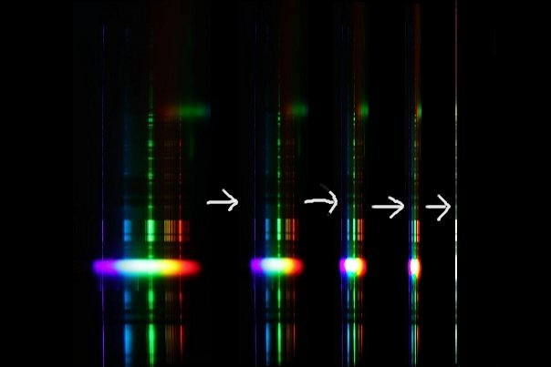 Smack together the spectrum to see what's on the slit