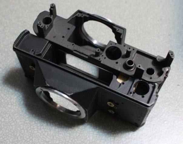 Two camera bodies mated