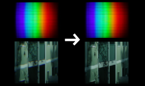 Correction of spectral image geometry