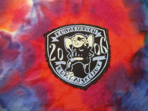 "a close-up on the T-shirt, the finished logo of the football team ""flower fairies"""