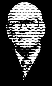 Kekkonen with a sinusoidal halftone pattern
