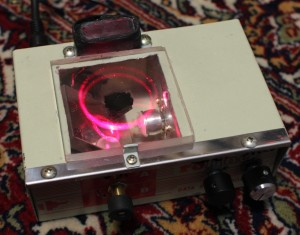 Rotolaserator 2. It's a red laser, not a pink laser, which is an impossibility. My camera thinks it's pink.